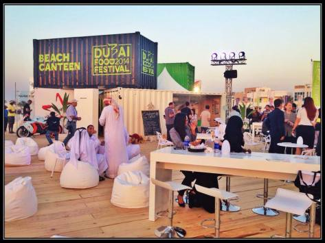 The venue at kite beach. Dubai Food Festival Beach Canteen.