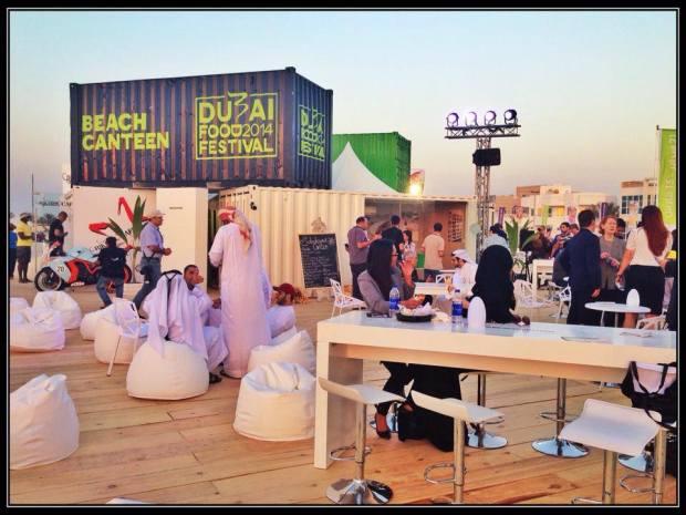 The venue at kite beach. Dubai Food Festival Beach Canteen.