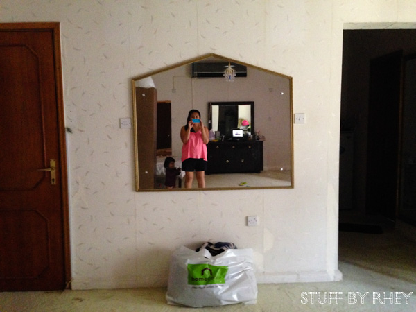 House shaped mirror