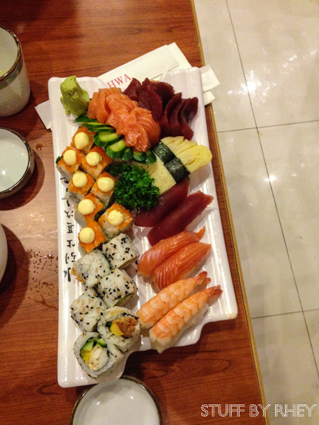 Platinum Sushi platter at Yee Hwa, Doha Downtown