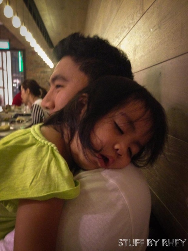 Sleeping inside Neo Restaurant in Salwa Road