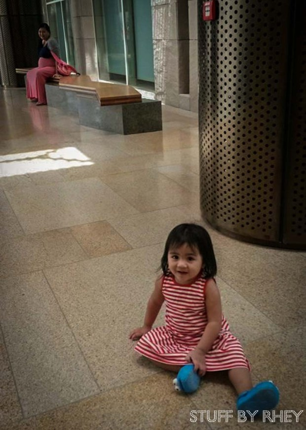 Aria and Mama at the Qatar Foundation Student Center