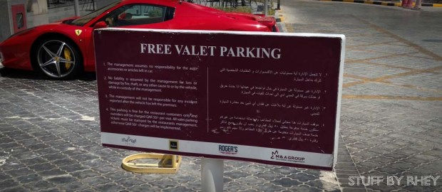 Free Valet parking at Roger's Diner