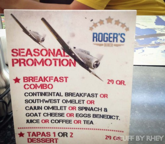 Seasonal Promotion from Roger's Diner