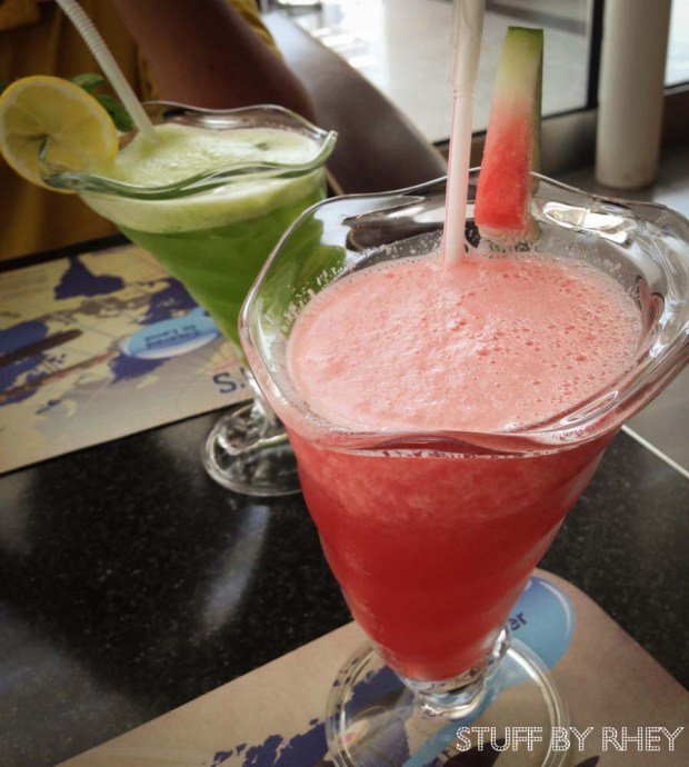 Our Lemon Mint and Watermelon juice from Roger's Diner