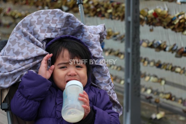 crying at the pont des arts in Paris