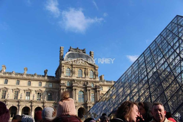 The famous pyramid of the Louvre