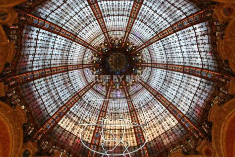 Ceiling of Galeries Lafayette at Boulevard Haussmann, Paris
