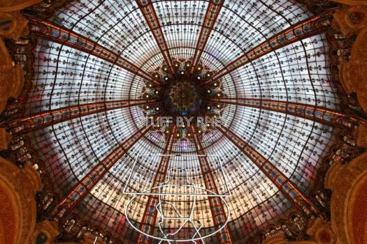 Ceiling of Galeries Lafayette at Boulevard Haussmann, Paris
