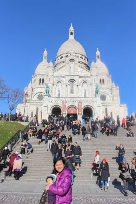 At the foot of Sacre Coeur in Montmartre