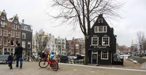 the canal and buildings of Amsterdam