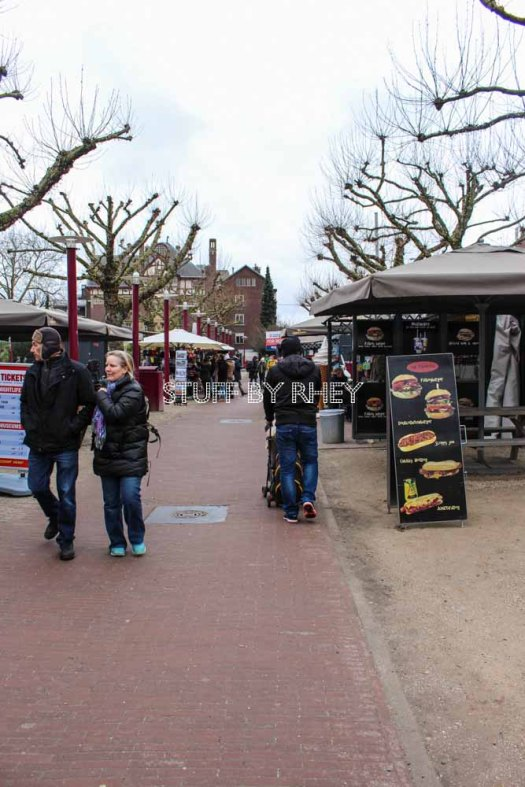 Looking for food at the Museum Square, Amsterdam