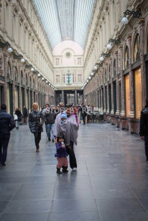 Shopping Arcade near the Grote Markt, Brussels, Belgium