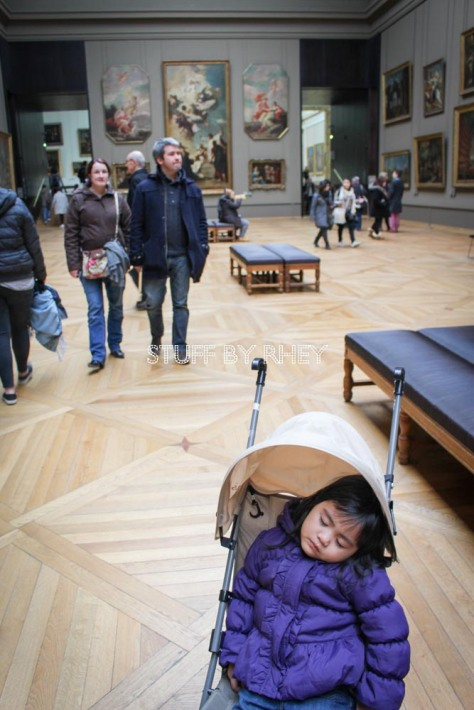 My museum buddy knocked out at the louvre