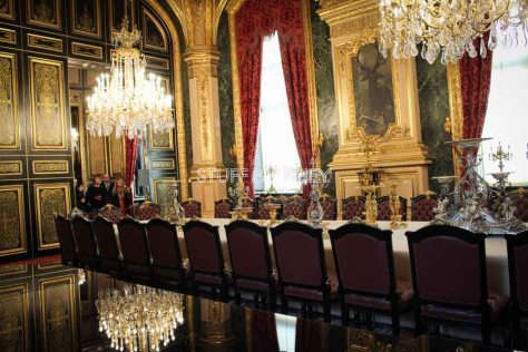Napoleon's meeting room at the Cardinal Richeliu wing of the Louvre