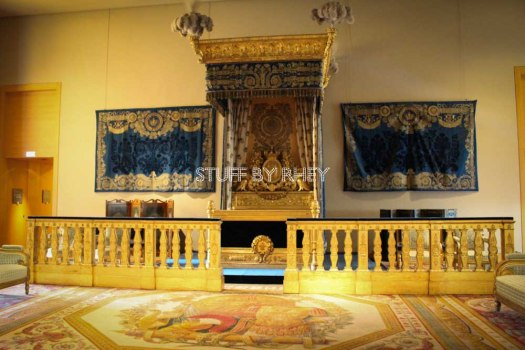 Napoleon's bed at the Cardinal Richeliu wing of the Louvre