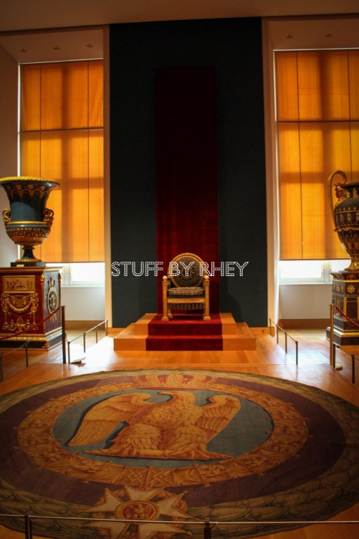 Napoleon's throne at the Cardinal Richeliu wing of the Louvre