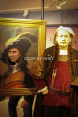 Posing for Rembrandt at Madame Tussaud's Amsterdam
