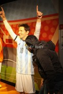 Smelling Messi's armpits at Madame Tussaud's Amsterdam
