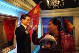 with the president of China at Madame Tussaud's Amsterdam