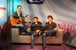 hanging out with some dudes at Madame Tussaud's Amsterdam