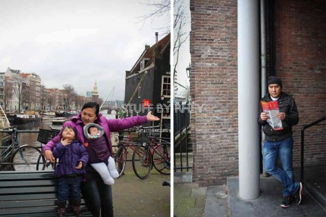 Day 6- Hanging outside the Joods Museum in Amsterdam, Netherlands