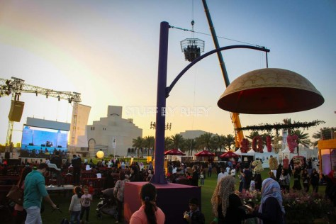 The first class dining in the sky by Qatar Airways at the QIFF 2015