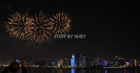Fireworks at the Qatar International Food Festival 2015 (QIFF2015) Doha Qatar