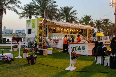 Yalla Natural's stall encouraging everyone to grow their own vegetables at the QIFF 2015